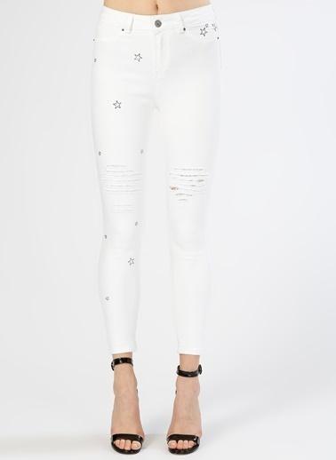 Black Pepper Pantolon Beyaz
